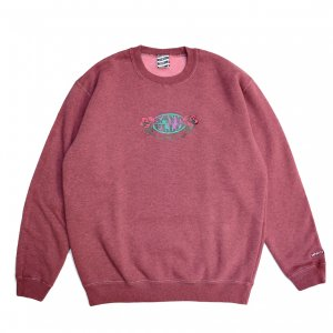 <img class='new_mark_img1' src='https://img.shop-pro.jp/img/new/icons5.gif' style='border:none;display:inline;margin:0px;padding:0px;width:auto;' />SAYHELLO HARD ROCK PIGMENT DYED SWEAT / DARK MAROON(セイハロー クルーネック/スウェット)