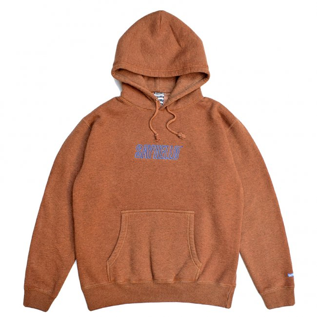 <img class='new_mark_img1' src='https://img.shop-pro.jp/img/new/icons5.gif' style='border:none;display:inline;margin:0px;padding:0px;width:auto;' />SAYHELLO FLAME LOGO EMBROIDERY PIGMENT DYED HOODIE / COFFEE (セイハロー パーカー/スウェット)