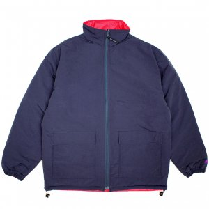 <img class='new_mark_img1' src='https://img.shop-pro.jp/img/new/icons5.gif' style='border:none;display:inline;margin:0px;padding:0px;width:auto;' />SAYHELLO REVERSIBLE JACKET / NAVY×RED (セイハロー コーデュロイジャケット/中綿ジャケット)