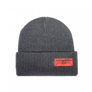 <img class='new_mark_img1' src='https://img.shop-pro.jp/img/new/icons5.gif' style='border:none;display:inline;margin:0px;padding:0px;width:auto;' />ANTIHERO STOCK EAGLE LABEL CUFF BEANIE / DARK GREY (アンチヒーロー/ キャップ)