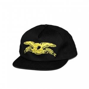 <img class='new_mark_img1' src='https://img.shop-pro.jp/img/new/icons5.gif' style='border:none;display:inline;margin:0px;padding:0px;width:auto;' />ANTIHERO BASIC EAGLE SNAPBACK CAP / BLACK (アンチヒーロー/ キャップ)