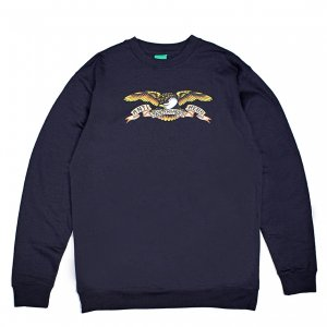 <img class='new_mark_img1' src='https://img.shop-pro.jp/img/new/icons5.gif' style='border:none;display:inline;margin:0px;padding:0px;width:auto;' />ANTIHERO CLASSIC EAGLE SWEATSHIRT / NAVY (アンチヒーロー/ クルーネック)