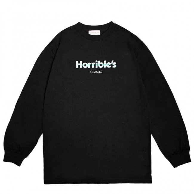 <img class='new_mark_img1' src='https://img.shop-pro.jp/img/new/icons5.gif' style='border:none;display:inline;margin:0px;padding:0px;width:auto;' />HORRIBLE'S MASTER L/S T-SHIRT / BLACK (ホリブルズ 長袖 /ロングスリーブ Tシャツ)
