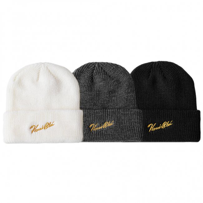<img class='new_mark_img1' src='https://img.shop-pro.jp/img/new/icons5.gif' style='border:none;display:inline;margin:0px;padding:0px;width:auto;' />HORRIBLE'S SIGNATURE LOGO BEANIE / (ホリブルズ ビーニー/ニットキャップ)