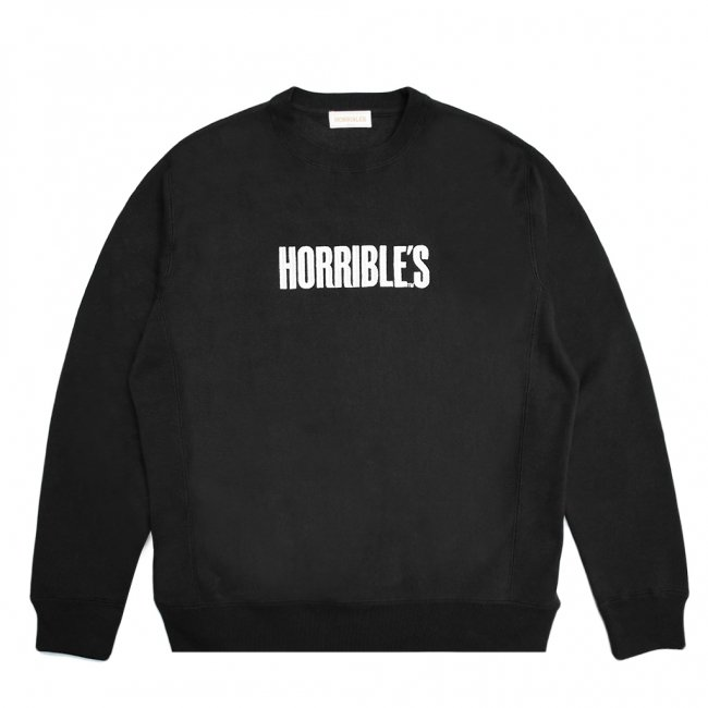 <img class='new_mark_img1' src='https://img.shop-pro.jp/img/new/icons5.gif' style='border:none;display:inline;margin:0px;padding:0px;width:auto;' />HORRIBLE'S BAR LOGO PREMIUM CREWNECK SWEAT / BLACK (ホリブルズ クルーネック スウェット)