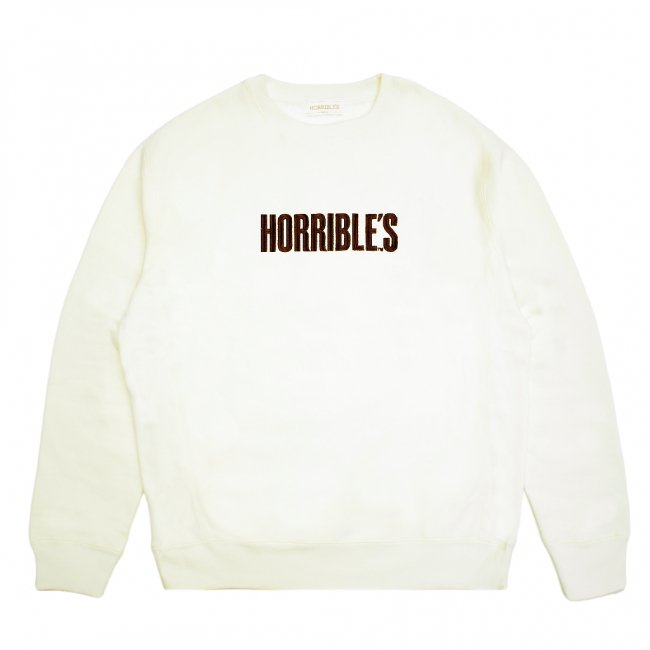 <img class='new_mark_img1' src='https://img.shop-pro.jp/img/new/icons5.gif' style='border:none;display:inline;margin:0px;padding:0px;width:auto;' />HORRIBLE'S BAR LOGO PREMIUM CREWNECK SWEAT / CREAM (ホリブルズ クルーネック スウェット)
