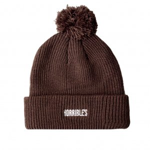 <img class='new_mark_img1' src='https://img.shop-pro.jp/img/new/icons5.gif' style='border:none;display:inline;margin:0px;padding:0px;width:auto;' />HORRIBLE'S BAR LOGO POM BEANIE / BROWN (ホリブルズ ビーニー/ポム ニットキャップ)