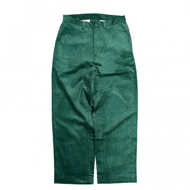 <img class='new_mark_img1' src='https://img.shop-pro.jp/img/new/icons5.gif' style='border:none;display:inline;margin:0px;padding:0px;width:auto;' />SAYHELLO WORK CORDUROY PANTS WIDE-FIT / DEEP GREEN (セイハロー ワークコーデュロイパンツ)