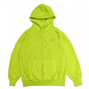<img class='new_mark_img1' src='https://img.shop-pro.jp/img/new/icons5.gif' style='border:none;display:inline;margin:0px;padding:0px;width:auto;' />SAYHELLO CASH LOGO EMBROIDERY PIGMENT DYED HEAVY HOODIE / LIME (セイハロー パーカー/スウェット)