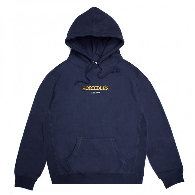 <img class='new_mark_img1' src='https://img.shop-pro.jp/img/new/icons5.gif' style='border:none;display:inline;margin:0px;padding:0px;width:auto;' />HORRIBLE'S LOGO PREMIUM HOODED SWEAT SHIRT / NAVY (ホリブルズ パーカー スウェット)