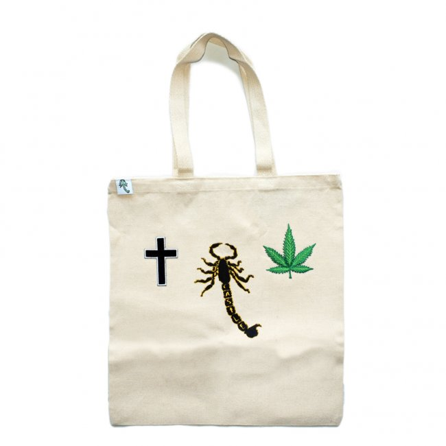 <img class='new_mark_img1' src='https://img.shop-pro.jp/img/new/icons5.gif' style='border:none;display:inline;margin:0px;padding:0px;width:auto;' />CASTLE SCORPION TOTE BAG / NATURAL (キャッスル/トートバッグ)