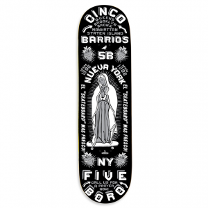 <img class='new_mark_img1' src='https://img.shop-pro.jp/img/new/icons5.gif' style='border:none;display:inline;margin:0px;padding:0px;width:auto;' />5BORO CINCO BARRIOS DECK BLACK / 8.25 X 32