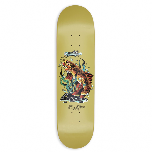 <img class='new_mark_img1' src='https://img.shop-pro.jp/img/new/icons5.gif' style='border:none;display:inline;margin:0px;padding:0px;width:auto;' />5BORO BRONX TROUT DECK / 8.25 X 32