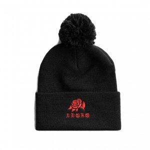 <img class='new_mark_img1' src='https://img.shop-pro.jp/img/new/icons5.gif' style='border:none;display:inline;margin:0px;padding:0px;width:auto;' />5BORO ROSE POM BEANIE / (ファイブボロ ビーニー/ニットキャップ)
