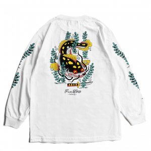 <img class='new_mark_img1' src='https://img.shop-pro.jp/img/new/icons5.gif' style='border:none;display:inline;margin:0px;padding:0px;width:auto;' />5BORO CATFISH L/S TEE / WHITE (ファイブボロ/ロングスリーブ Tシャツ)