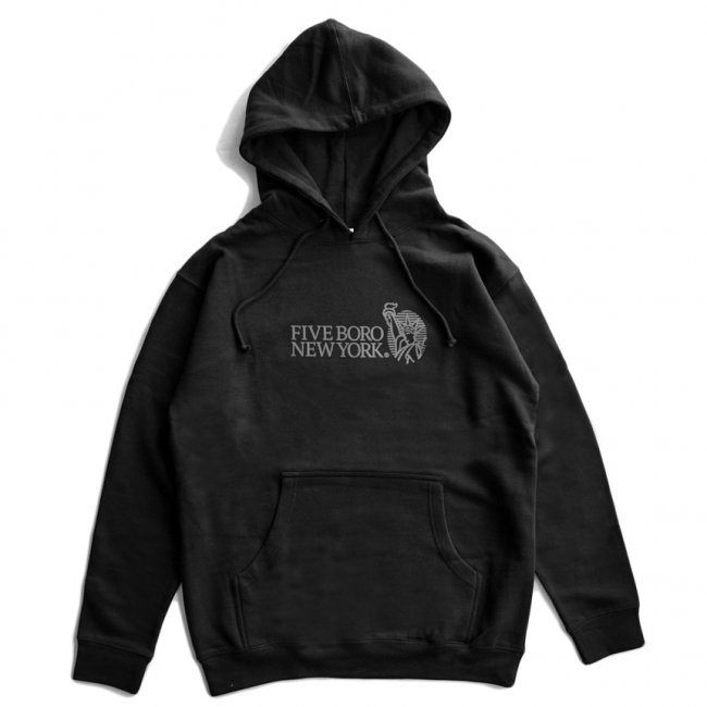 <img class='new_mark_img1' src='https://img.shop-pro.jp/img/new/icons5.gif' style='border:none;display:inline;margin:0px;padding:0px;width:auto;' />5BORO STILL STANDING PULLOVER HOODIE / BLACK (ファイブボロ/パーカー)