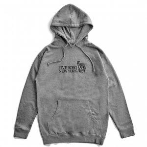 <img class='new_mark_img1' src='https://img.shop-pro.jp/img/new/icons5.gif' style='border:none;display:inline;margin:0px;padding:0px;width:auto;' />5BORO STILL STANDING PULLOVER HOODIE / GUNMETAL HEATHER (ファイブボロ/パーカー)
