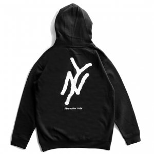 <img class='new_mark_img1' src='https://img.shop-pro.jp/img/new/icons5.gif' style='border:none;display:inline;margin:0px;padding:0px;width:auto;' />5BORO NY LOGO PULLOVER HOODIE / BLACK (ファイブボロ/パーカー)