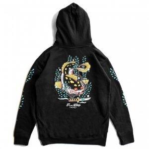 <img class='new_mark_img1' src='https://img.shop-pro.jp/img/new/icons5.gif' style='border:none;display:inline;margin:0px;padding:0px;width:auto;' />5BORO CATFISH PULLOVER HOODIE / BLACK (ファイブボロ/パーカー)