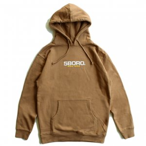 <img class='new_mark_img1' src='https://img.shop-pro.jp/img/new/icons5.gif' style='border:none;display:inline;margin:0px;padding:0px;width:auto;' />5BORO LOGO HOODIE / SADDLE BROWN (ファイブボロ/パーカー)