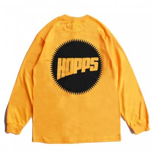 <img class='new_mark_img1' src='https://img.shop-pro.jp/img/new/icons5.gif' style='border:none;display:inline;margin:0px;padding:0px;width:auto;' />HOPPS SUN LOGO L/S T-SHIRT / GOLD (ホップス ロングスリーブTシャツ/長袖)
