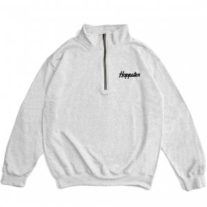 <img class='new_mark_img1' src='https://img.shop-pro.jp/img/new/icons5.gif' style='border:none;display:inline;margin:0px;padding:0px;width:auto;' />HOPPS HOPPSTER QUARTER ZIP SWEAT / HEATHER GREY (ホップス スウェット)