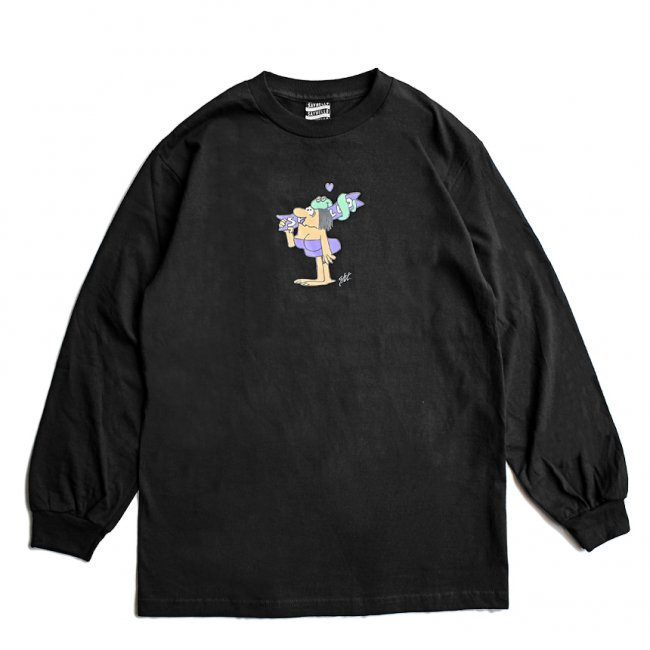 <img class='new_mark_img1' src='https://img.shop-pro.jp/img/new/icons5.gif' style='border:none;display:inline;margin:0px;padding:0px;width:auto;' />SAYHELLO WILD WIDE L/S TEE / BLACK (セイハロー  ロングスリーブTシャツ/ロンT)