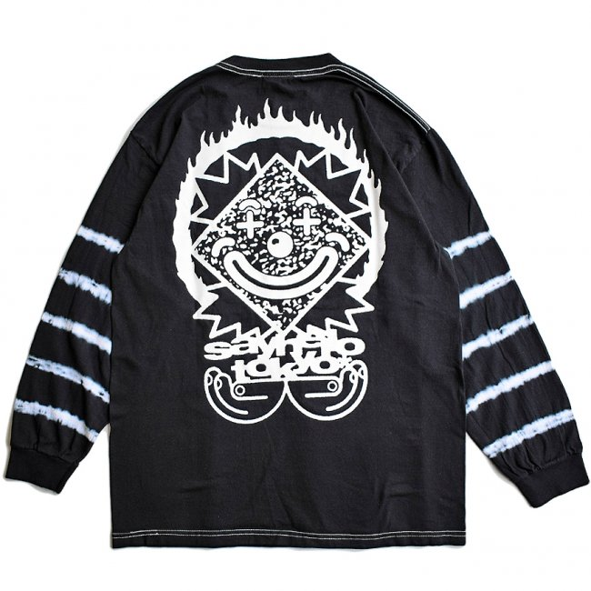 <img class='new_mark_img1' src='https://img.shop-pro.jp/img/new/icons5.gif' style='border:none;display:inline;margin:0px;padding:0px;width:auto;' />SAYHELLO MASK SLEEVE DYE L/S TEE / BLACK (セイハロー  ロングスリーブTシャツ/ロンT)