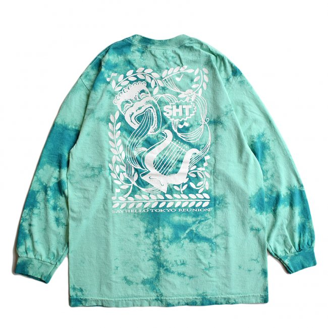 <img class='new_mark_img1' src='https://img.shop-pro.jp/img/new/icons5.gif' style='border:none;display:inline;margin:0px;padding:0px;width:auto;' />SAYHELLO LISTEN TIE DYE L/S TEE / TURQUOISE (セイハロー  ロングスリーブTシャツ/ロンT)