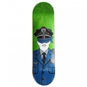 <img class='new_mark_img1' src='https://img.shop-pro.jp/img/new/icons5.gif' style='border:none;display:inline;margin:0px;padding:0px;width:auto;' />DOOMSAYERS CORP COP DECK / GREEN (ドゥームセイヤーズ スケートデッキ)