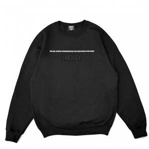 <img class='new_mark_img1' src='https://img.shop-pro.jp/img/new/icons5.gif' style='border:none;display:inline;margin:0px;padding:0px;width:auto;' />HOCKEY SIDE TWO CREWNECK SWEAT / BLACK (ホッキー スウェット)