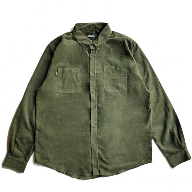 <img class='new_mark_img1' src='https://img.shop-pro.jp/img/new/icons5.gif' style='border:none;display:inline;margin:0px;padding:0px;width:auto;' />THEORIES CORDUROY UNITY SHIRT / FOREST(セオリーズ コーデュロイシャツ/長袖シャツ)