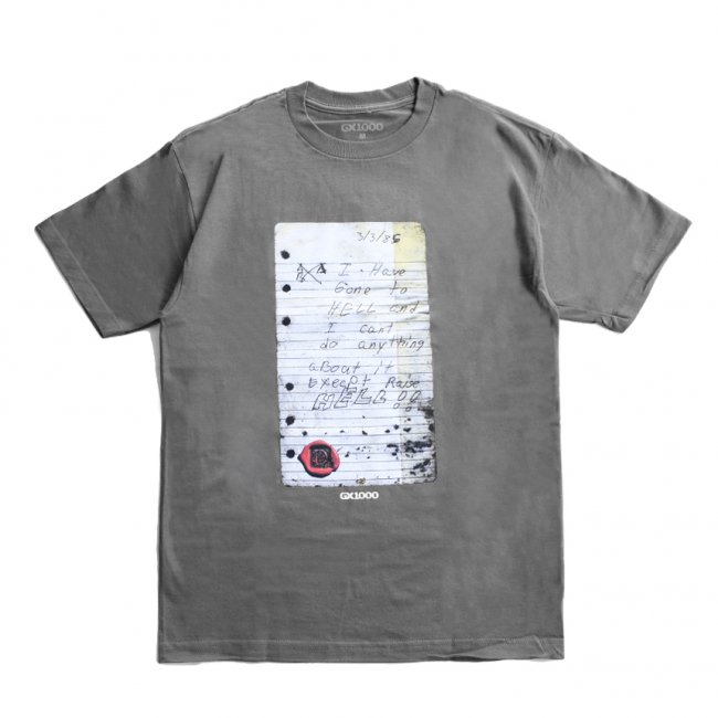 <img class='new_mark_img1' src='https://img.shop-pro.jp/img/new/icons5.gif' style='border:none;display:inline;margin:0px;padding:0px;width:auto;' />GX1000 RAISE IN HELL!! TEE / CHARCOAL (ジーエックスセン Tシャツ / 半袖)