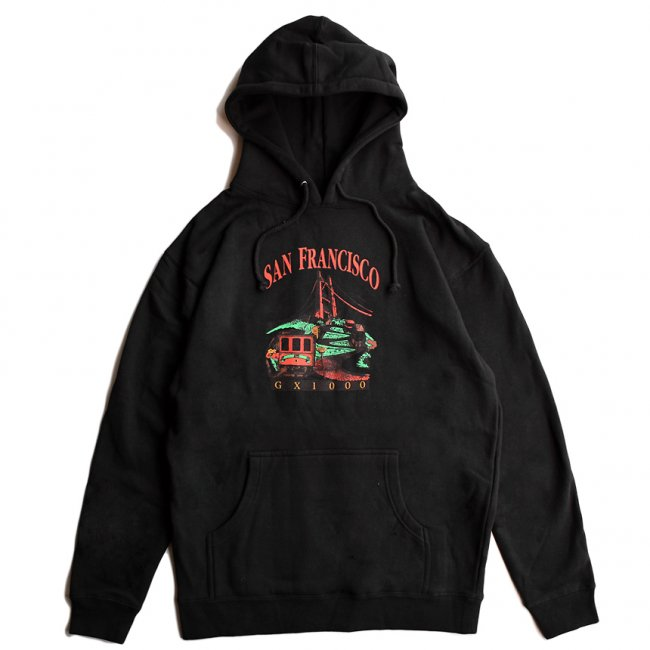 <img class='new_mark_img1' src='https://img.shop-pro.jp/img/new/icons5.gif' style='border:none;display:inline;margin:0px;padding:0px;width:auto;' />GX1000 TOURIST HOODIE / BLACK (ジーエックスセン パーカー / スウェット)