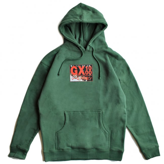 <img class='new_mark_img1' src='https://img.shop-pro.jp/img/new/icons5.gif' style='border:none;display:inline;margin:0px;padding:0px;width:auto;' />GX1000 HORROR HOODIE / ALPINE GREEN (ジーエックスセン パーカー / スウェット)