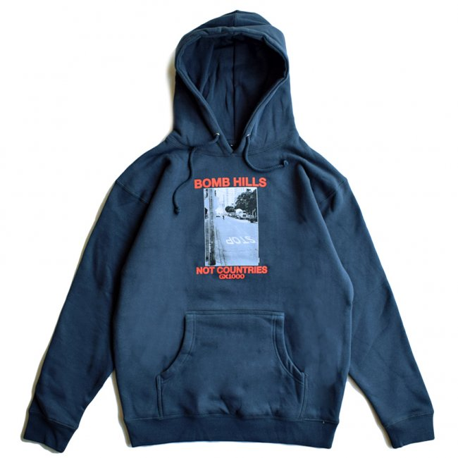 <img class='new_mark_img1' src='https://img.shop-pro.jp/img/new/icons5.gif' style='border:none;display:inline;margin:0px;padding:0px;width:auto;' />GX1000 BOMB HILLS HOODIE / SLATE (ジーエックスセン パーカー / スウェット)