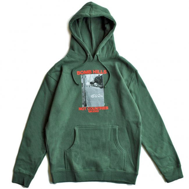 <img class='new_mark_img1' src='https://img.shop-pro.jp/img/new/icons5.gif' style='border:none;display:inline;margin:0px;padding:0px;width:auto;' />GX1000 BOMB HILLS HOODIE / ALIPNE GREEN (ジーエックスセン パーカー / スウェット)