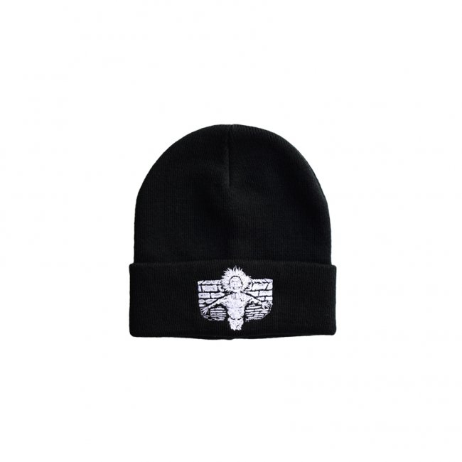 <img class='new_mark_img1' src='https://img.shop-pro.jp/img/new/icons5.gif' style='border:none;display:inline;margin:0px;padding:0px;width:auto;' />HOCKEY CRIPPLING BEANIE / BLACK (ホッキー ビーニー/ニットキャップ)