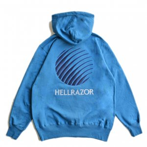 <img class='new_mark_img1' src='https://img.shop-pro.jp/img/new/icons5.gif' style='border:none;display:inline;margin:0px;padding:0px;width:auto;' />HELLRAZOR LOGO PATCH HOODIE / JADE BLUE (ヘルレイザー パーカー/フーディ)