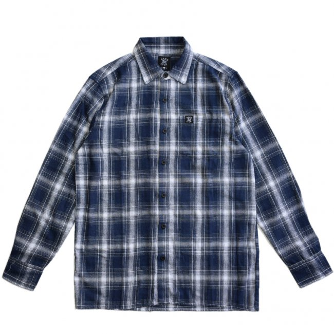 <img class='new_mark_img1' src='https://img.shop-pro.jp/img/new/icons5.gif' style='border:none;display:inline;margin:0px;padding:0px;width:auto;' />HARDLUCK TRUE L/S FLANNEL SHIRT / BLUE (ハードラック 長袖ネルシャツ)