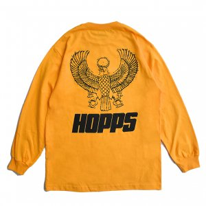 <img class='new_mark_img1' src='https://img.shop-pro.jp/img/new/icons5.gif' style='border:none;display:inline;margin:0px;padding:0px;width:auto;' />HOPPS HORUS L/S T-SHIRT / GOLD (ホップス ロングスリーブTシャツ/長袖)