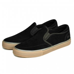 <img class='new_mark_img1' src='https://img.shop-pro.jp/img/new/icons5.gif' style='border:none;display:inline;margin:0px;padding:0px;width:auto;' />STATE FOOTWEAR KEYS / BLACK / GUM SUEDE (ステイト フットウエア スケートシューズ)