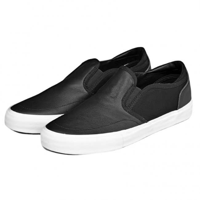 <img class='new_mark_img1' src='https://img.shop-pro.jp/img/new/icons5.gif' style='border:none;display:inline;margin:0px;padding:0px;width:auto;' />STATE FOOTWEAR KEYS BEN GORE X BLACK/WHITE / FULL GRAIN LEATHER (ステイト フットウエア スケートシューズ)
