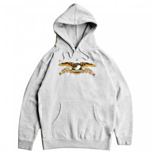 <img class='new_mark_img1' src='https://img.shop-pro.jp/img/new/icons5.gif' style='border:none;display:inline;margin:0px;padding:0px;width:auto;' />ANTIHERO CLASSIC EAGLE HOODIE / HEATHER GREY (アンチヒーロー/ フーディー)