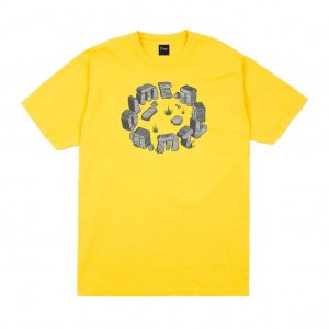 <img class='new_mark_img1' src='https://img.shop-pro.jp/img/new/icons5.gif' style='border:none;display:inline;margin:0px;padding:0px;width:auto;' />DIME STONE T-SHIRT / YELLOW (ダイム Tシャツ / 半袖)