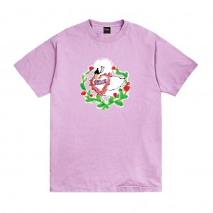 <img class='new_mark_img1' src='https://img.shop-pro.jp/img/new/icons5.gif' style='border:none;display:inline;margin:0px;padding:0px;width:auto;' />DIME SWAN T-SHIRT / LAVENDER (ダイム Tシャツ / 半袖)
