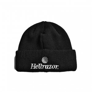<img class='new_mark_img1' src='https://img.shop-pro.jp/img/new/icons5.gif' style='border:none;display:inline;margin:0px;padding:0px;width:auto;' />HELLRAZOR TRADEMARK CUFF KNIT CAP / BLACK (ヘルレイザー ニットキャップ/ビーニー)
