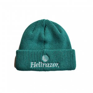 <img class='new_mark_img1' src='https://img.shop-pro.jp/img/new/icons5.gif' style='border:none;display:inline;margin:0px;padding:0px;width:auto;' />HELLRAZOR TRADEMARK CUFF KNIT CAP / NW GREEN (ヘルレイザー ニットキャップ/ビーニー)
