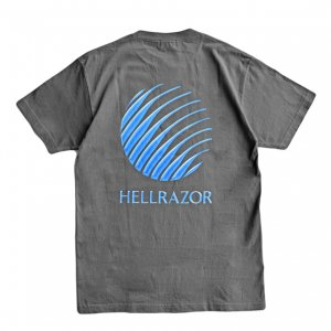 <img class='new_mark_img1' src='https://img.shop-pro.jp/img/new/icons5.gif' style='border:none;display:inline;margin:0px;padding:0px;width:auto;' />HELLRAZOR GEL LOGO SHIRT / CHARCOAL GREY (ヘルレイザー Tシャツ)