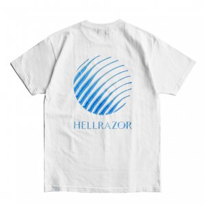 <img class='new_mark_img1' src='https://img.shop-pro.jp/img/new/icons5.gif' style='border:none;display:inline;margin:0px;padding:0px;width:auto;' />HELLRAZOR GEL LOGO SHIRT / WHITE (ヘルレイザー Tシャツ)